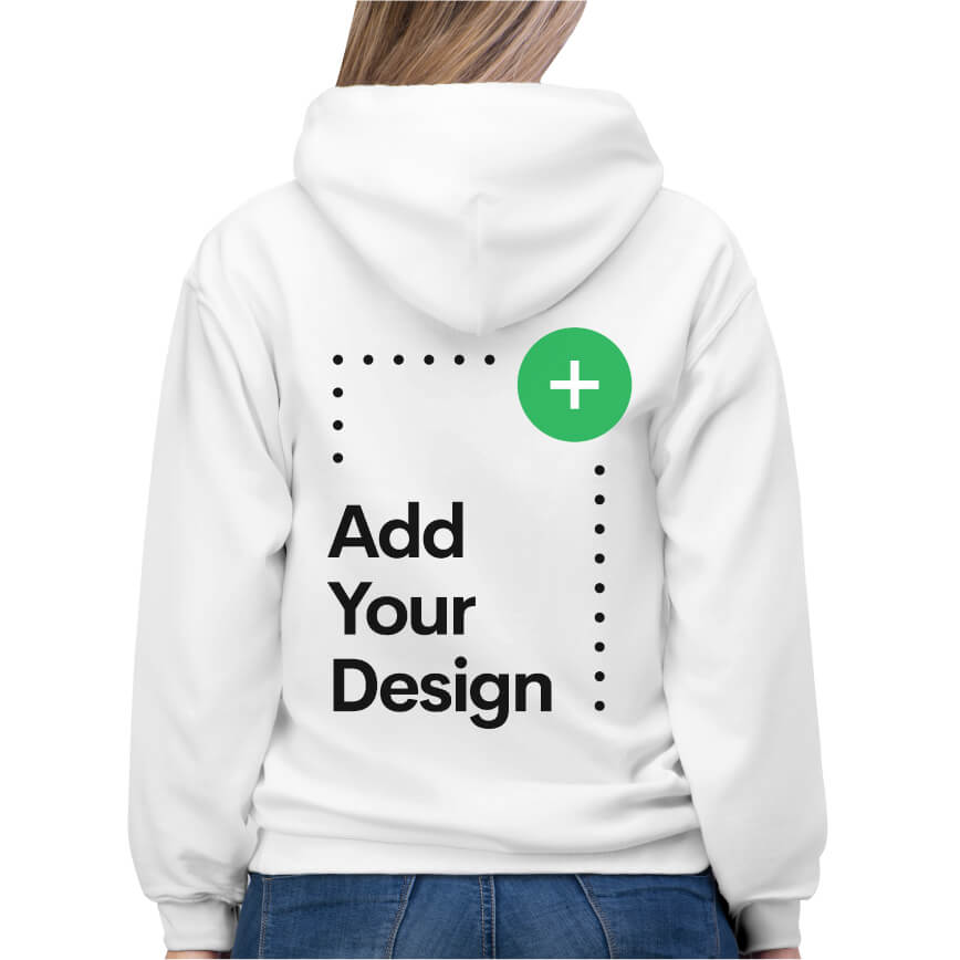 Custom Unisex Hooded Sweatshirt + Pom Pom Beanie – For